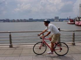 Jeff Whalen biking