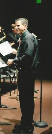 Jeffrey Whalen conducting a jazz concert