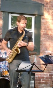 Mr. Whalen - Jeff is playing the sax at an outdoor gig
