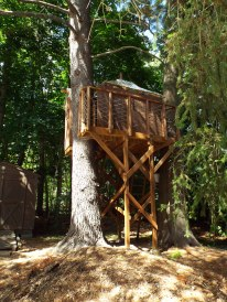 Jeff Whalen's finished tree house for the boys.